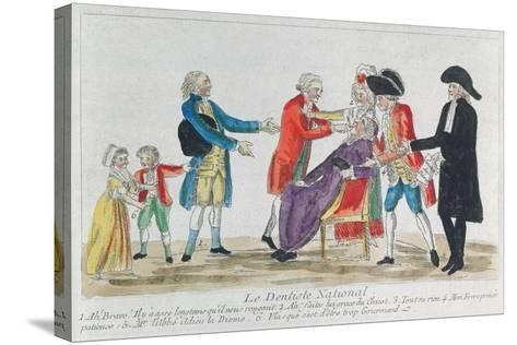 Caricature of the Nationalisation of Church Property in France During the French Revolution, 1792--Stretched Canvas Print