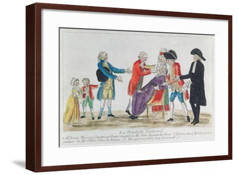 Caricature of the Nationalisation of Church Property in France During the French Revolution, 1792--Framed Art Print