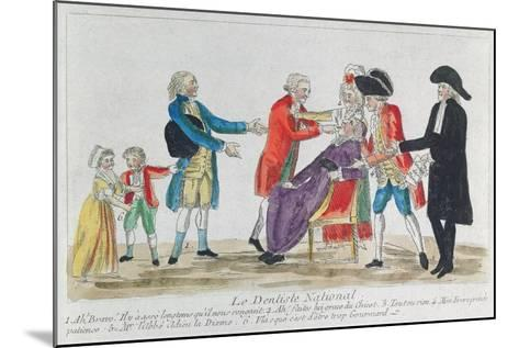 Caricature of the Nationalisation of Church Property in France During the French Revolution, 1792--Mounted Giclee Print
