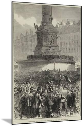 Assemblage of Paris Republicans at the Column of July, Place De La Bastille--Mounted Giclee Print