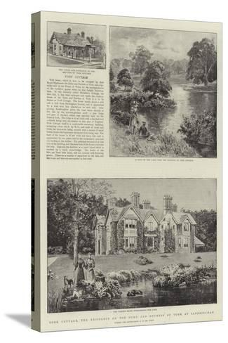 York Cottage, the Residence of the Duke and Duchess of York at Sandringham--Stretched Canvas Print