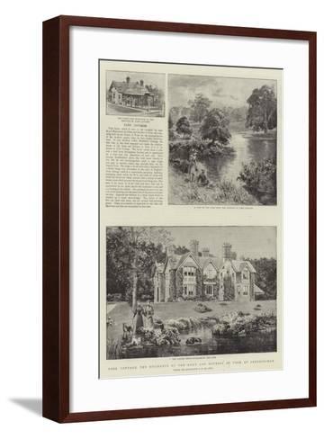 York Cottage, the Residence of the Duke and Duchess of York at Sandringham--Framed Art Print