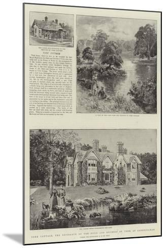 York Cottage, the Residence of the Duke and Duchess of York at Sandringham--Mounted Giclee Print