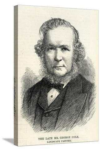 George Cole (1810–83) from 'The Illustrated London News' 29th September, 1883--Stretched Canvas Print