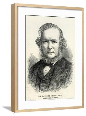 George Cole (1810–83) from 'The Illustrated London News' 29th September, 1883--Framed Art Print