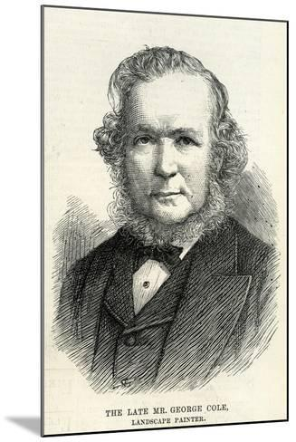 George Cole (1810–83) from 'The Illustrated London News' 29th September, 1883--Mounted Giclee Print