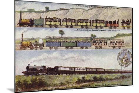 A Train of 1837 Compared with the Special Anglo-American Boat Express in 1904--Mounted Giclee Print