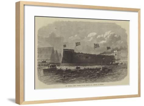 Our Iron-Clad Fleet, Floating of Her Majesty's Ship Hercules, at Chatham--Framed Art Print