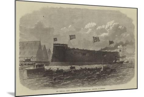 Our Iron-Clad Fleet, Floating of Her Majesty's Ship Hercules, at Chatham--Mounted Giclee Print
