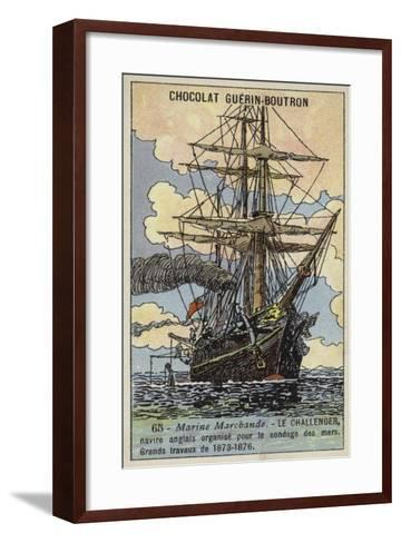 Challenger, British Ship Equipped to Undertake an Oceanographic Survey Expedition, 1873-1876--Framed Art Print