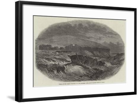 Wreck of the Barque Edmund, on the Duggerna Rocks, Bay of Kilkee, County of Clare--Framed Art Print