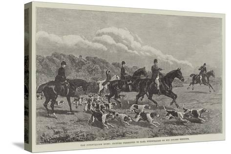 The Fitzwilliam Hunt, Picture Presented to Earl Fitzwilliam on His Golden Wedding--Stretched Canvas Print
