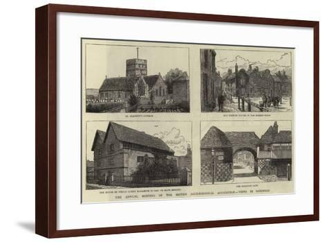 The Annual Meeting of the British Archaeological Association, Views in Sandwich--Framed Art Print