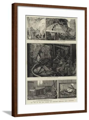 The Fire at the India Museum and Inventions Exhibition, South Kensington--Framed Art Print