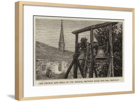The Church and Bells of Sainte Helene, Between Dinan and Dol, Brittany--Framed Art Print