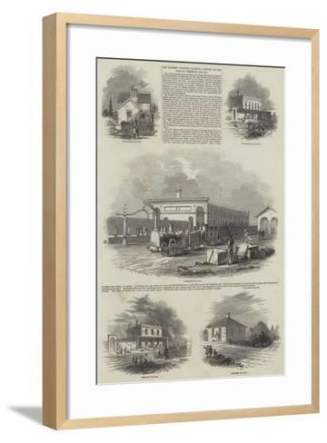 The Eastern Counties Railway, Opening of the Line to Cambridge and Ely--Framed Art Print