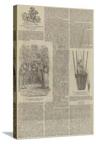 Illustrated News, a Sketch of the Rise and Progress of Pictorial Journalism--Stretched Canvas Print