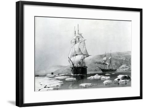 HMS Assistance and Pioneer Breaking Out of Winter Quarters in 1854--Framed Art Print