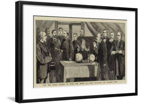 The New Royal College of Music, the Prince of Wales Declaring the Building Open--Framed Art Print