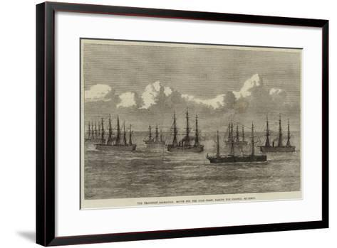 The Transport Sarmatian, Bound for the Gold Coast, Passing the Channel Squadron--Framed Art Print