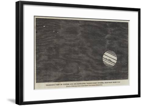 Telescopic View of Jupiter and His Satellites, 21 October, Half-Past Eight Pm--Framed Art Print