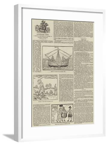 Illustrated News, a Sketch of the Rise and Progress of Pictorial Journalism--Framed Art Print