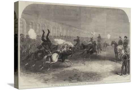 The Prince of Wales at St Petersburg, Review of the Circassian Body-Guard--Stretched Canvas Print