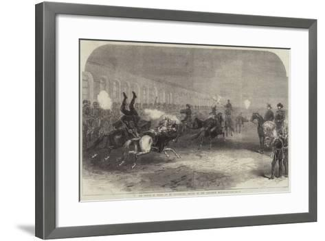 The Prince of Wales at St Petersburg, Review of the Circassian Body-Guard--Framed Art Print