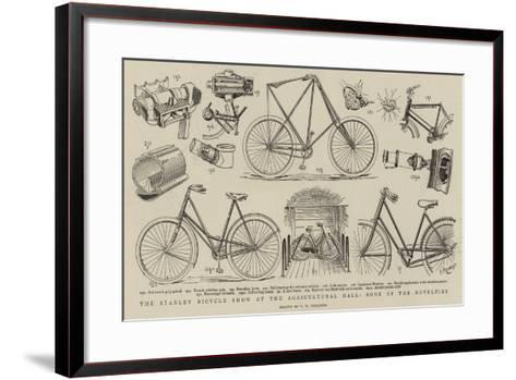 The Stanley Bicycle Show at the Agricultural Hall, Some of the Novelties--Framed Art Print