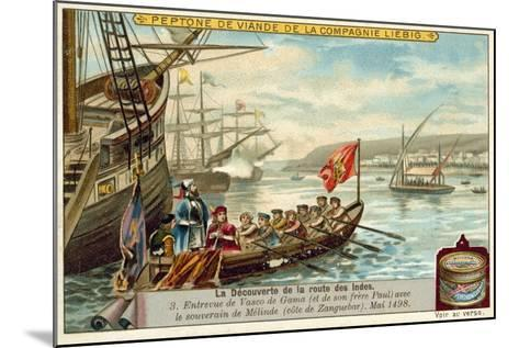 Meeting of Vasco Da Gama and His Brother Paulo with the Ruler of Malindi, May 1498--Mounted Giclee Print