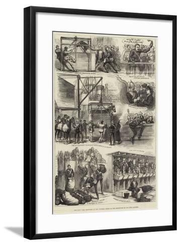 The Zulu War, Sketches at the Victoria Docks on the Departure of the 17th Lancers--Framed Art Print
