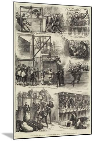 The Zulu War, Sketches at the Victoria Docks on the Departure of the 17th Lancers--Mounted Giclee Print