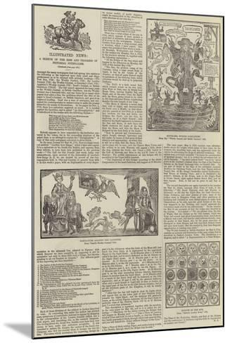 Illustrated News, a Sketch of the Rise and Progress of Pictorial Journalism--Mounted Giclee Print