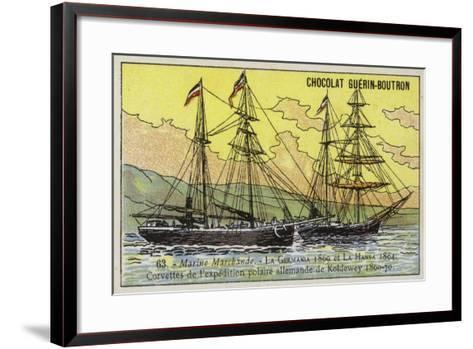 Germania and Hansa, Ships of Carl Koldewey's German North Polar Expedition, 1869-1870--Framed Art Print