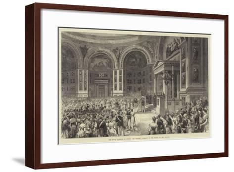 The Royal Marriage at Berlin, the Wedding Ceremony in the Chapel of the Schloss--Framed Art Print