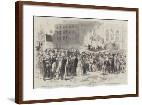 Shipwreck of The Northern Belle, the Crew of The Mary White, in their Life-Boat--Framed Art Print