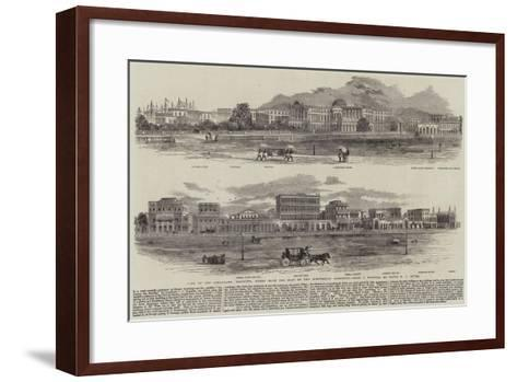View of the Esplanade, Calcutta, Taken from the Foot of the Ochterlony Monument--Framed Art Print