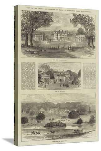 Visit of the Prince and Princess of Wales to Normanton Park, Rutlandshire--Stretched Canvas Print