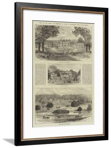 Visit of the Prince and Princess of Wales to Normanton Park, Rutlandshire--Framed Art Print