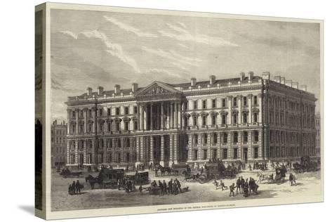 Proposed New Buildings of the General Post-Office, St Martin'S-Le-Grand--Stretched Canvas Print