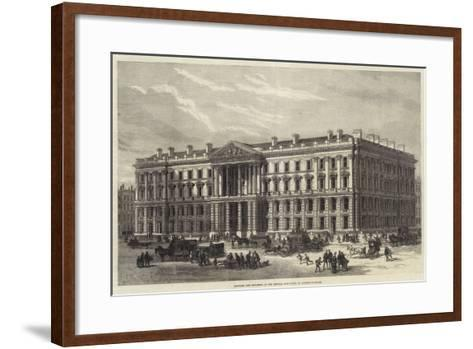 Proposed New Buildings of the General Post-Office, St Martin'S-Le-Grand--Framed Art Print