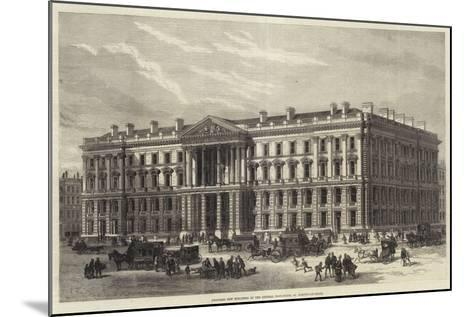 Proposed New Buildings of the General Post-Office, St Martin'S-Le-Grand--Mounted Giclee Print