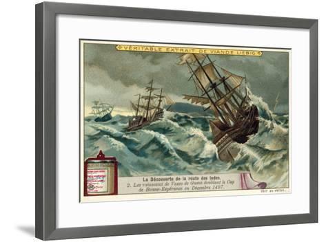 The Ships of Vasco Da Gama Rounding the Cape of Good Hope, December 1497--Framed Art Print