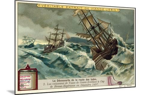 The Ships of Vasco Da Gama Rounding the Cape of Good Hope, December 1497--Mounted Giclee Print