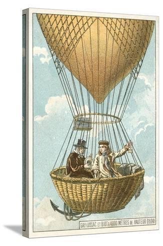 Joseph Louis Gay-Lussac and Jean-Baptiste Biot in a Balloon at an Altitude of 4000 Metres, 1804--Stretched Canvas Print