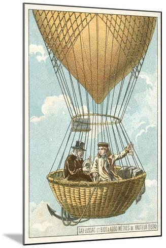 Joseph Louis Gay-Lussac and Jean-Baptiste Biot in a Balloon at an Altitude of 4000 Metres, 1804--Mounted Giclee Print
