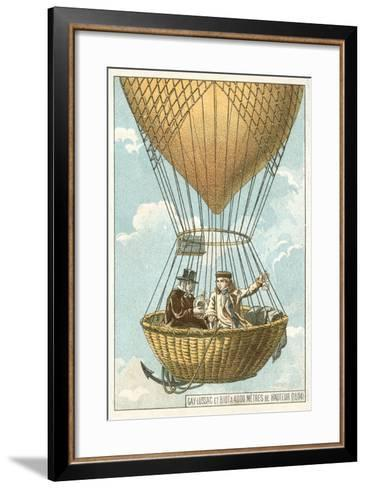 Joseph Louis Gay-Lussac and Jean-Baptiste Biot in a Balloon at an Altitude of 4000 Metres, 1804--Framed Art Print