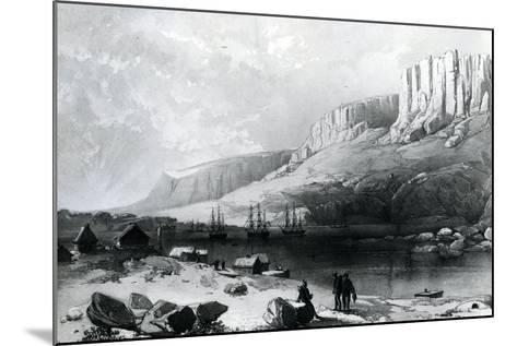 The Arctic Squadron in Leevely Harbour, Island of Disco, Coast of Greenland, 1855--Mounted Giclee Print
