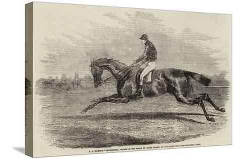 S a Nichol's Newminster, Winner of the Great St Leger Stakes, at Doncaster, 1851--Stretched Canvas Print