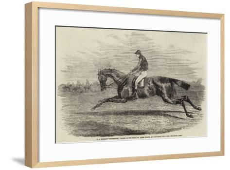 S a Nichol's Newminster, Winner of the Great St Leger Stakes, at Doncaster, 1851--Framed Art Print